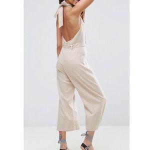 ASOS :: linen halter top jumpsuit